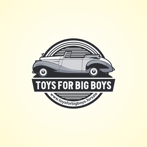 TOYS FOR BIG BOYS logo design.