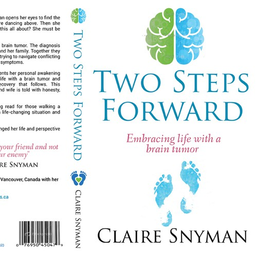 Create a captivating and inspiring cover for a memoir about a woman who survives a brain tumor