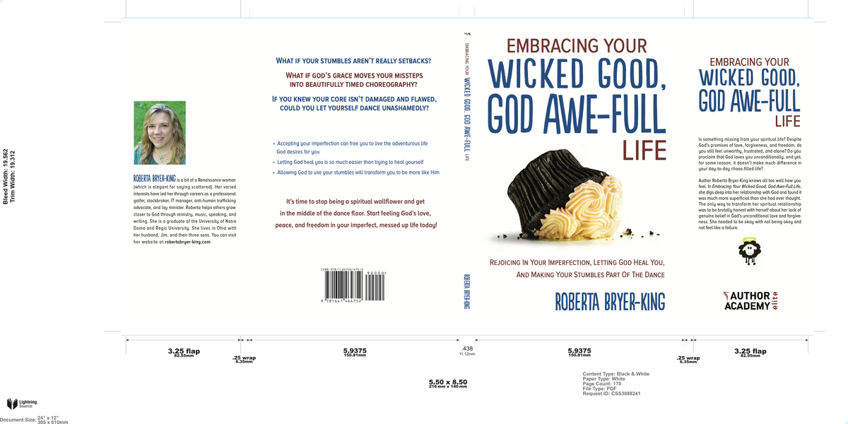 Wicked Good Book Cover -- Hardcover Dust Jacket; Paperback -- Adjust to 170 Pages