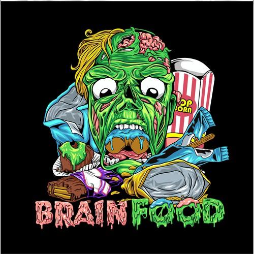 Brain Food tshirt design
