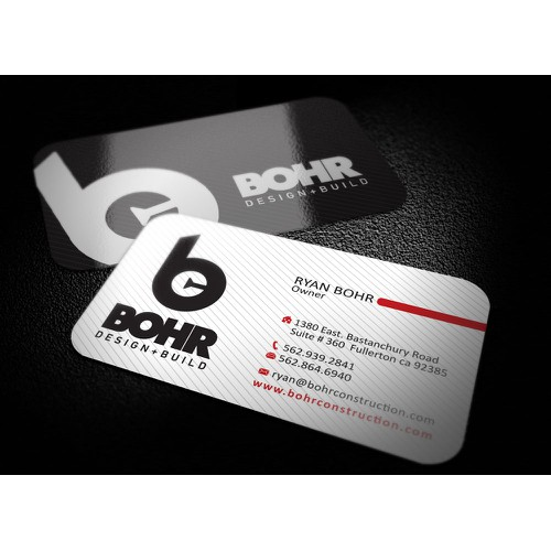 New Business card wanted for Bohr Construction