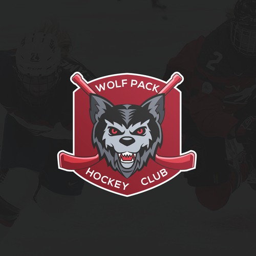 Mascot logo for Wolf Pack