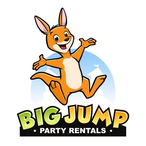 Playful logo for party rentals