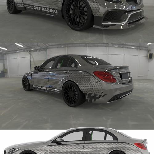 Car wrap - restoration company - racing car