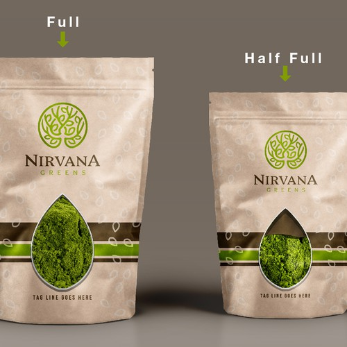 Nirvana green herbs label design