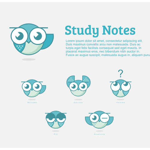 Create a logo for a fun high school study site!