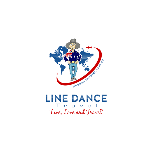 logo for line dance travel
