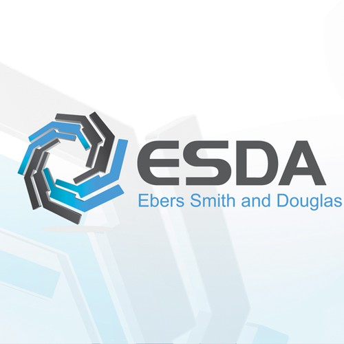 Logo for a high-tech, multi-product company ESDA LLC (possibly a modern take on the Hydra or Ouroboros)