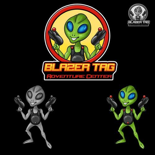 The cartoonish alien character