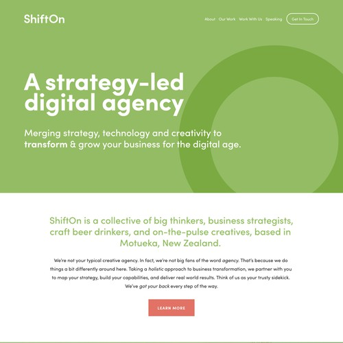 ShiftOn | Website for a Digital Agency