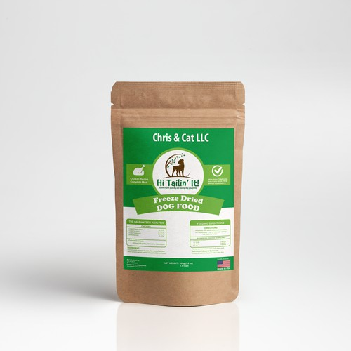 Dog Food product design for Chris & Cat LLC