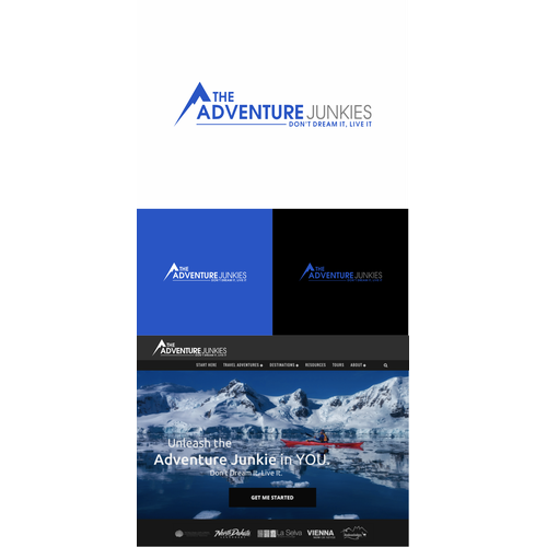 Create an inspiring adventure travel logo