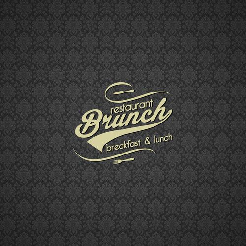 Vintage style logo for a brunch restaurant