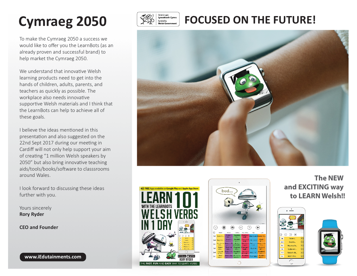 Welsh (presentation PDF or power-point) - presenting the LearnBots Welsh product range.