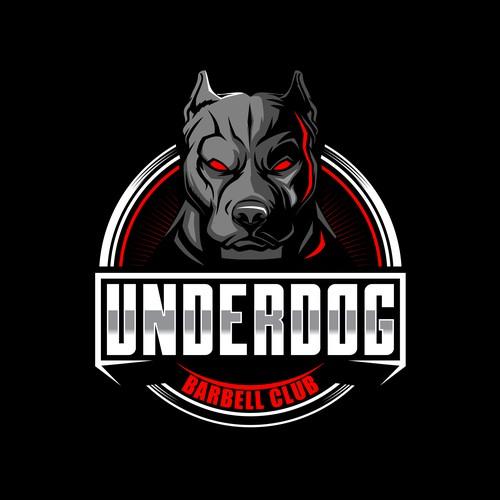 Pitbull狗动物漫画人物为underdog芭比尔俱乐部