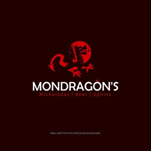 Dragon logo concept for cafe bar