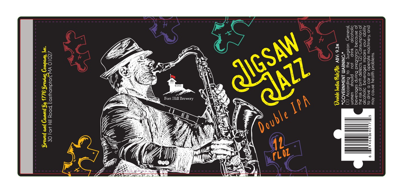 Design a jazz-inspired label for a craft brewery