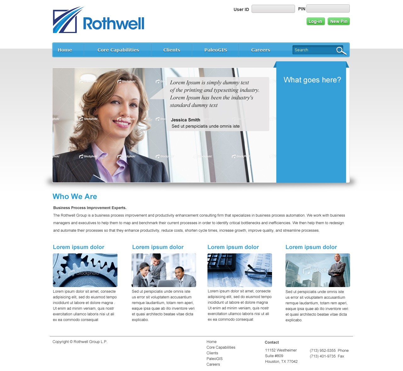 Help Rothwell with a new website design