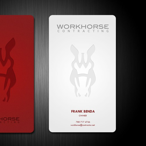 Help Workhorse Contracting with a new business card