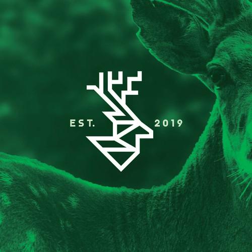Clean Geometric shape Logo style for Deer Intelligence