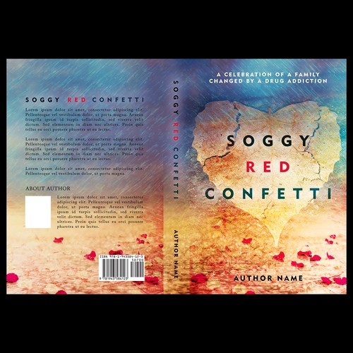 """Book cover for """"Soggy Red Confetti"""""""