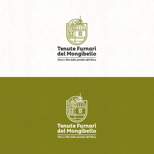 Bold logo concept for wine and olive oil company
