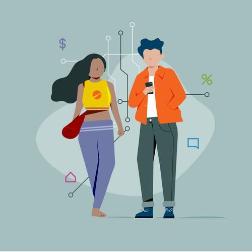 Teen Tech Illustration