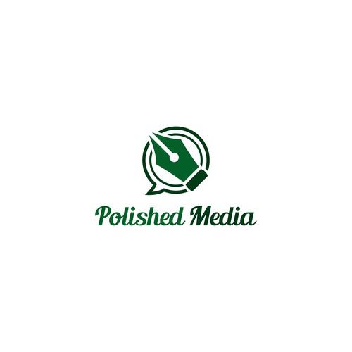 Simple Logo Design for Polished Media