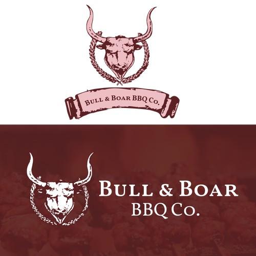 Hand drawn logo for BBQ restaurant