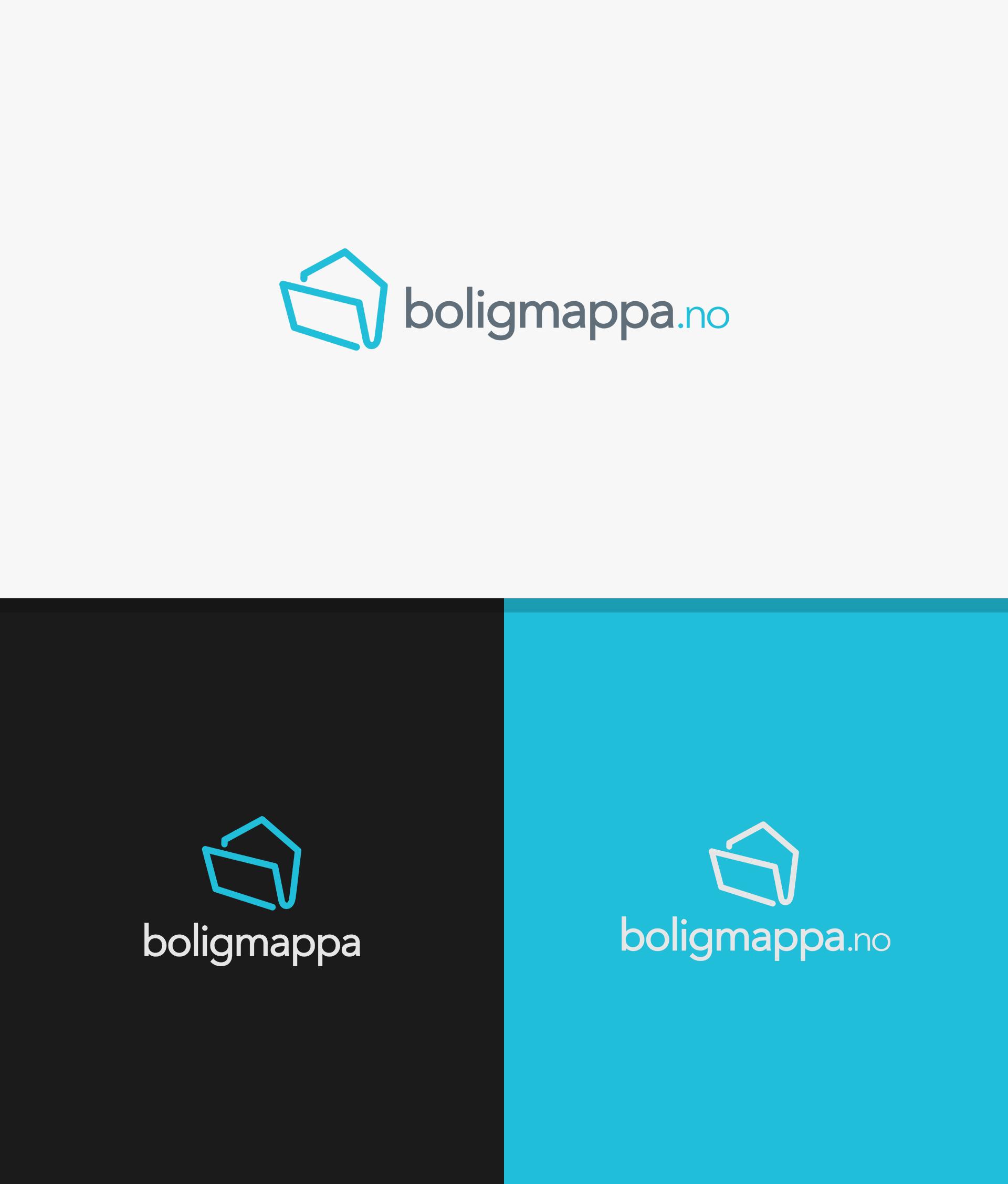 Total brand identity pack for innovative digital service Boligmappa.no
