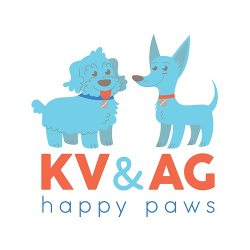 KV & AG - Happy Paws Logo Design
