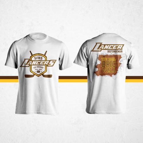 SFHS Lancers Ice Hockey t-shirt