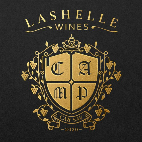 LASHELLE WINES VINTAGE LOGO HERALDY STYLE