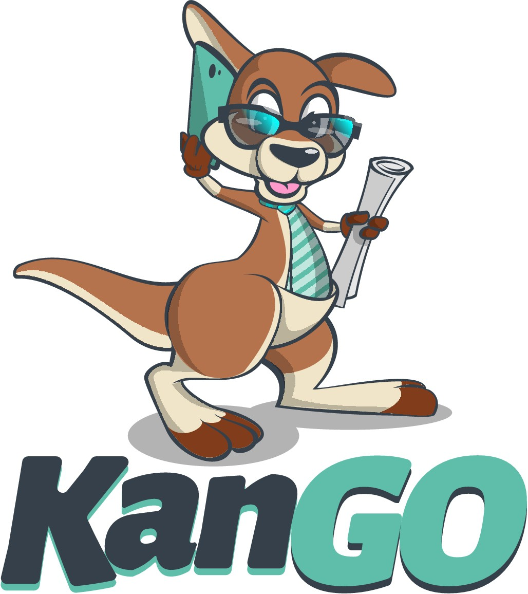 Kango - A Community Event Sharing Kangaroo Logo