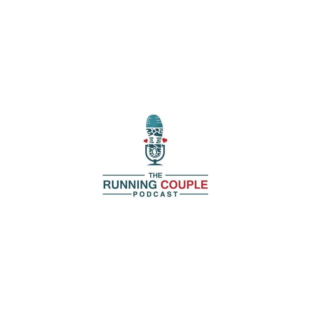 Running podcast logo design