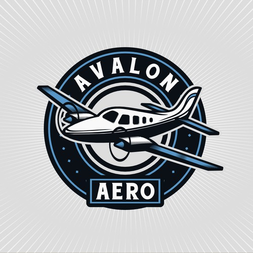 Create a logo that captures the classic/vintage feeling from the early days of aviation