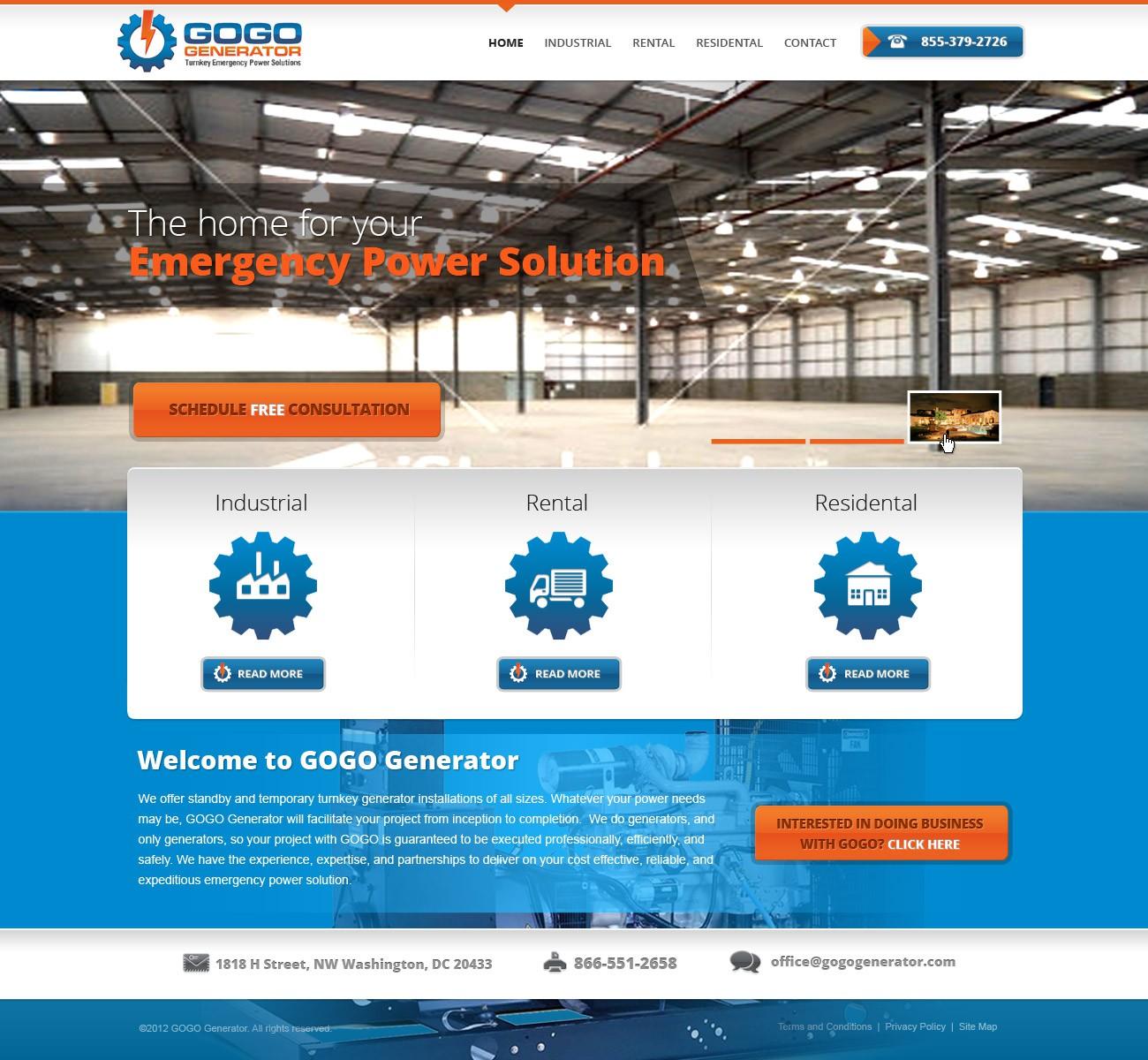GOGO Generator, LLC needs a new website design