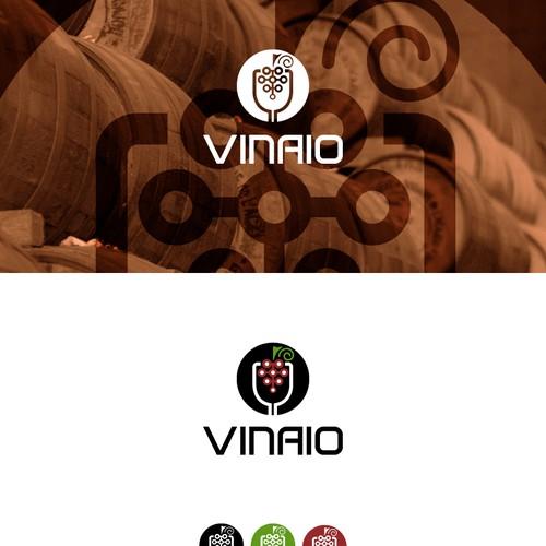 Conceito logo para escritório de monitoramento de vinhos.