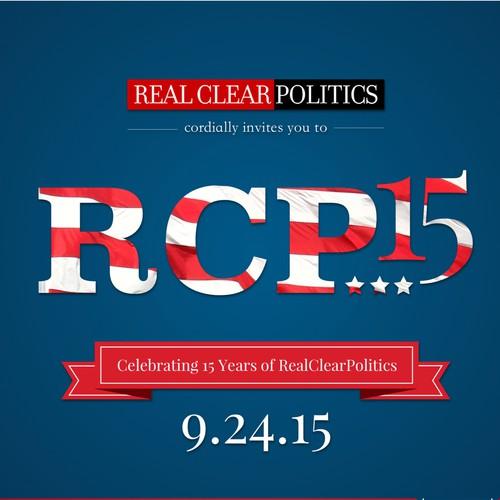 Invitation Design for RealClearPolitics 15th Anniversary Event