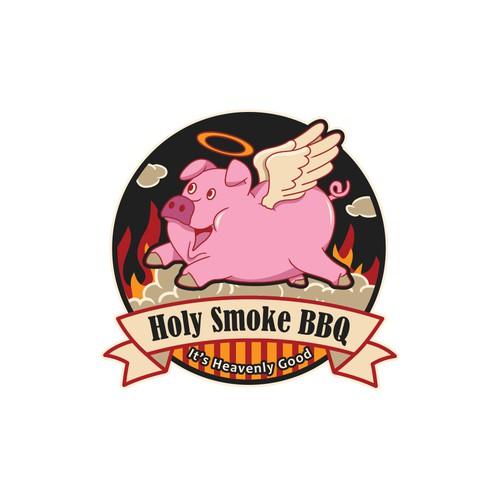 Funny, Illustrative Logo For A Restaurant