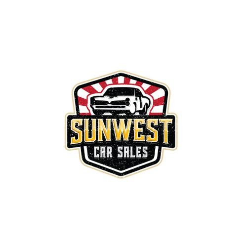 Logo design for Sunwest car sales