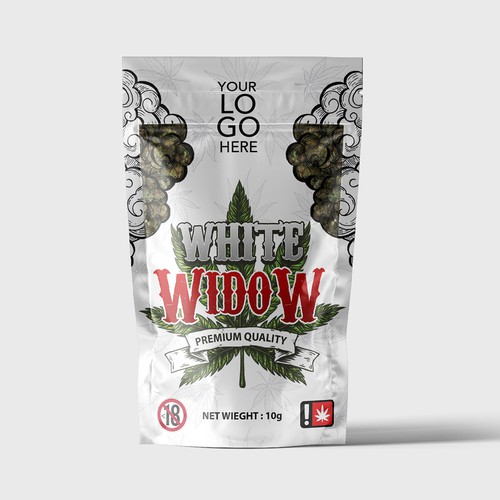 White widow package designing