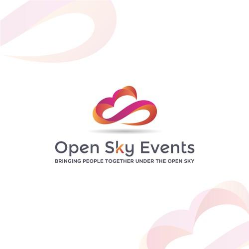 Open Sky Event logo design