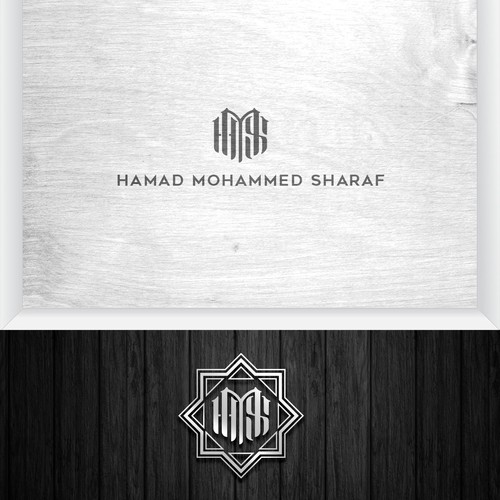 Exclusive, Elegant, and High end Logo for luxury executive personal Hamad Mohammed Sharaf