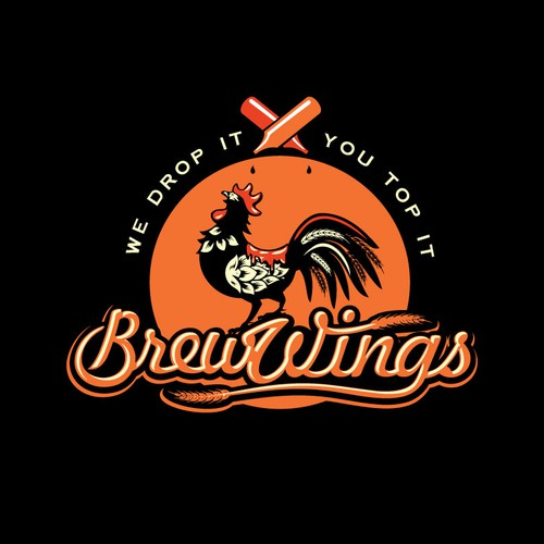"""Create a logo for the only LA """"Wings w/ Toppings"""" Food Truck"""