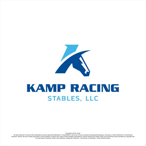 simple logo for horse racing