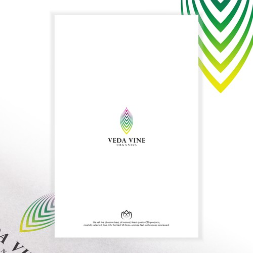 Veda Vine Organics Logo Concept