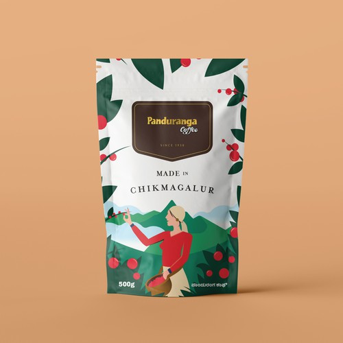 Package design for Panduranga Coffee