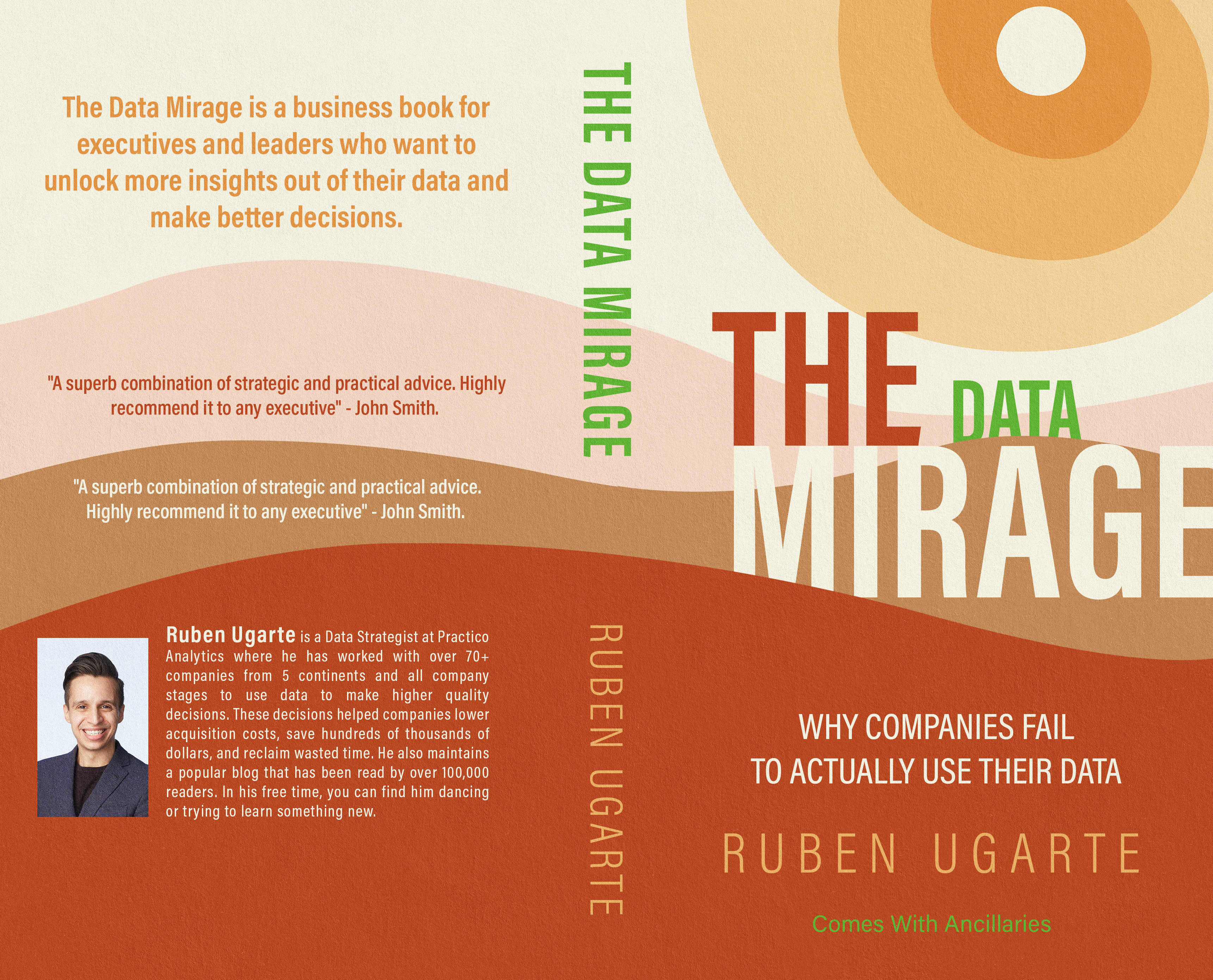 Design book cover for book on data & psychology