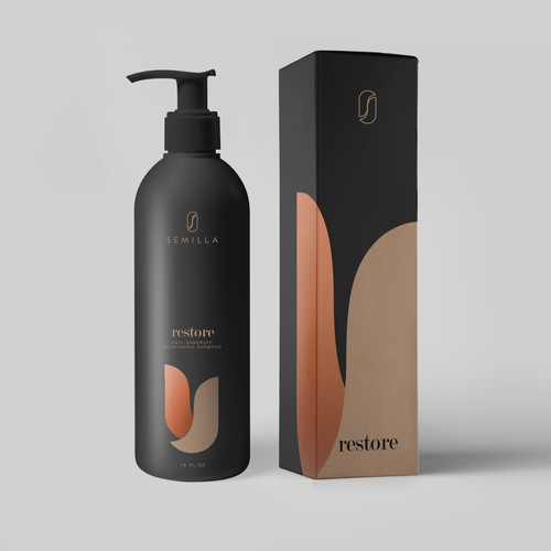 Shampoo bottle and box design